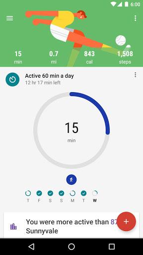 تحديث تطبيق متابعة الرياضة والنشاطات من جوجل Google Fit
