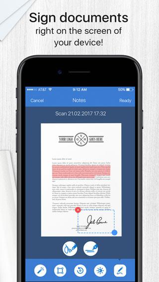 تطبيق Scanner App Pro لتحويل الأيفون إلى ماسح ضوئي