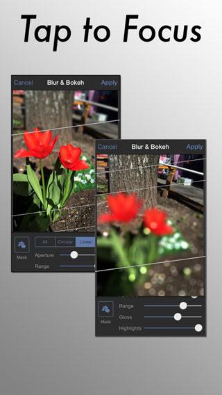 تطبيق Tadaa SLR لمحاكاة برامج تحرير الصور الاحترافية