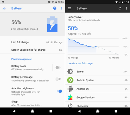 Android O VS Android Nougat