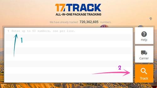 موقع 17Track لتتبع المنتوجات