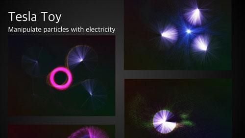 تطبيق Tesla Toy لإنشاء التفاعلات الضوئية