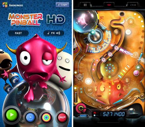 لعبة Monster Pinball HD الكلاسيكية بتصميم مميز