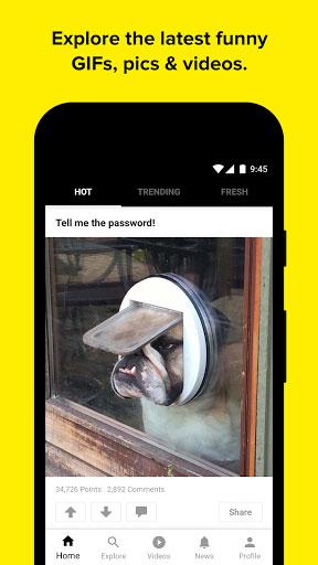تطبيق 9GAG للحصول على صور مضحكة وممتعة