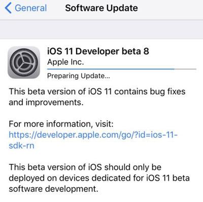 آبل تطلق النسخة التجريبية الثامنة من نظام iOS 11 – ما الجديد ؟