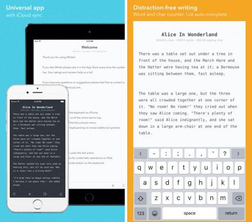 عرض مميز على تطبيق iWriter للكتابة بمزايا كثيرة