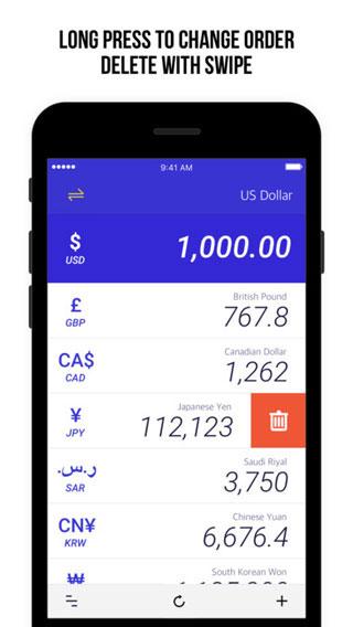 تطبيق Currency Exchange Rate للتحويل ما بين أكثر من 200 عملة