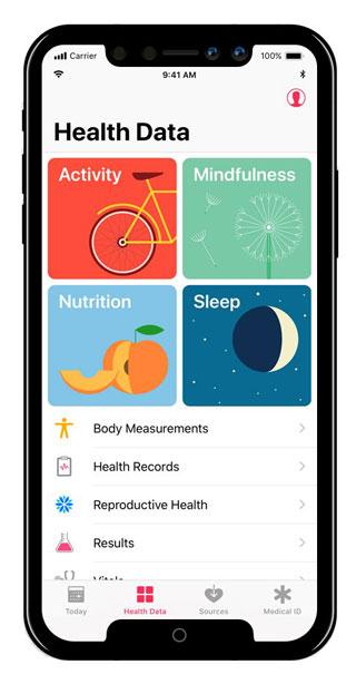 تطبيق الصحة على الأيفون 8