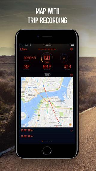 تطبيق SPEEDOMETER لتسجيل رحلاتك وتفاصيلها وسرعتك