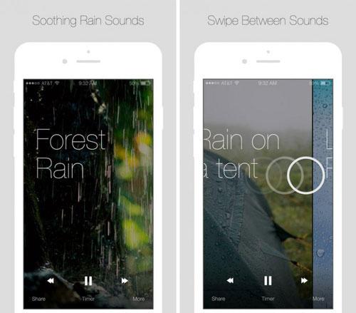 تطبيق Relax Rain أصوات المطر للحصول على راحة