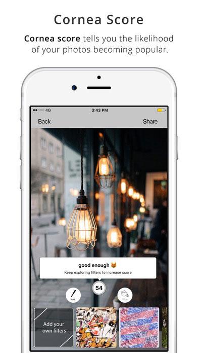 تطبيق Cornea لتحرير الصور و معرفة مدى جاذبيتها