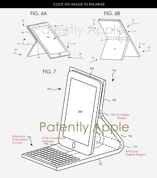 براءة اختراع - غطاء للأيفون و الأيباد مدمج بلوحة مفاتيح !