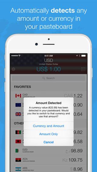 تطبيق Currencies لمعرفة صرف العملات