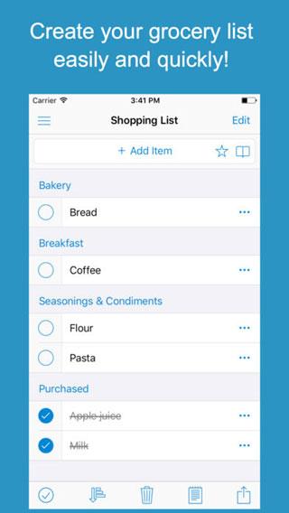 تطبيق Shoppylist Pro للتذكير بالمشتريات