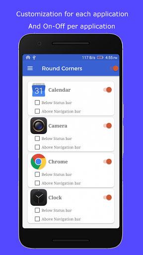 تطبيق Round Corners Lite للتحكم في زوايا عرض الشاشة