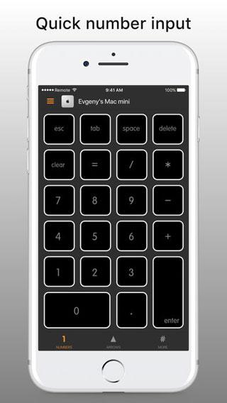 تطبيق Remote KeyPad لوحة مفاتيح للماك