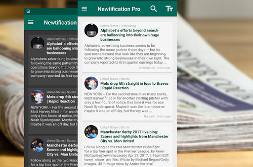 تطبيق News by Notifications PRO للحصول على الأخبار سريعا