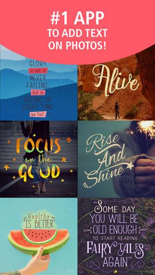 تطبيق Typic للكتابة على الصور بمزايا كثيرة