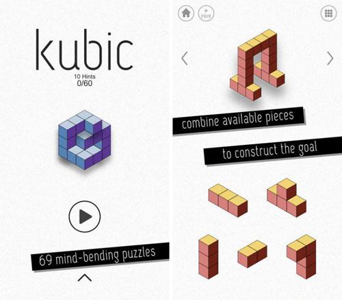 لعبة kubic لتركيب المربعات الهندسية