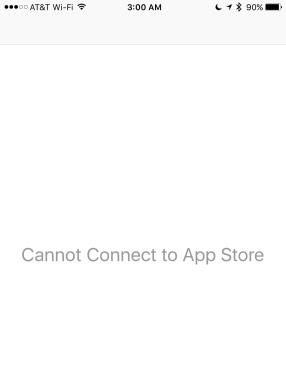 متجر تطبيقات الآب ستور لا يعمل في iOS 11