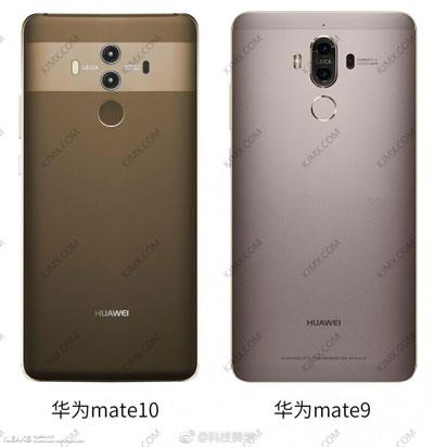 مقارنة تصميم هاتف Huawei Mate 10 مع Mate 9