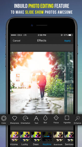 تطبيق SlideShow Maker لإنشاء ألبومات صور بخلفيات صوتية - مزايا احترافية