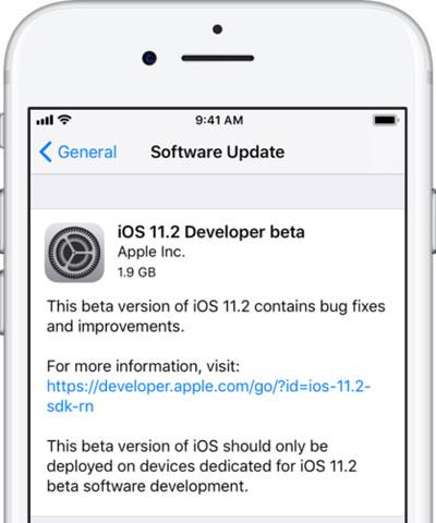 آبل تقوم بإطلاق الإصدار التجريبي iOS 11.2 للأيفون والأيباد - ما الجديد ؟