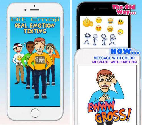 تطبيق BitEmoji الكثير من الملصقات في انتظارك
