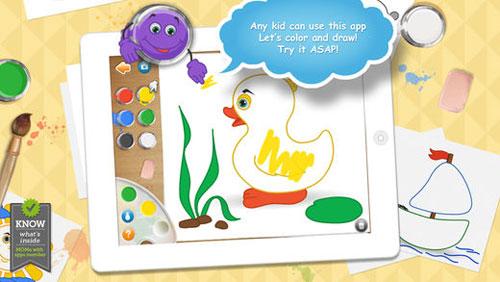 تطبيق Live Colors for Kids لتعليم الأطفال التلوين
