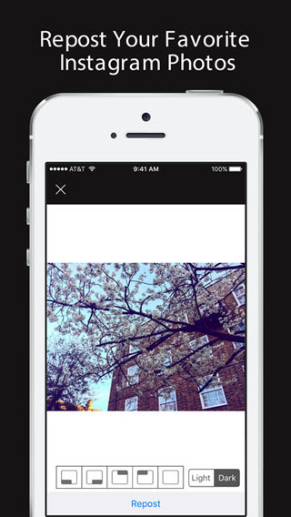 تطبيق Repost for Instagram للتحكم في محتوى انستغرام