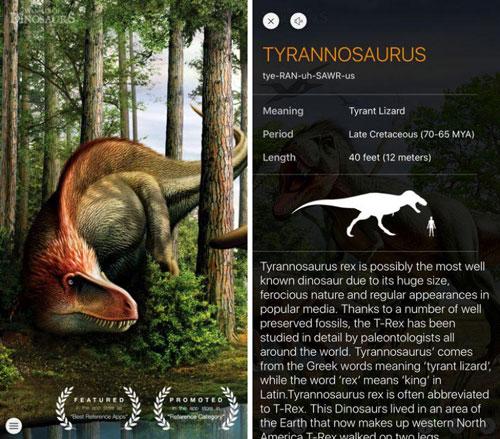 تطبيق World of Dinosaurs طريقك إلى عالم الديناصورات
