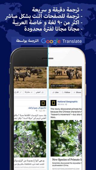 مترجم النت عربي و ترجمة شبكة متصفح الويب بحث جوجل