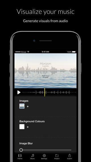 تطبيق Wizibel للتحكم في الخلفية الصوتية للفيديو