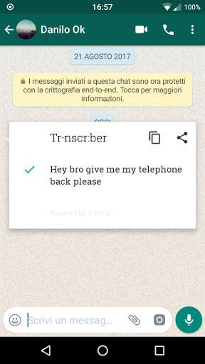 تطبيق Transcriber for WhatsApp لتحويل الرسائل الصوتية لمكتوبة
