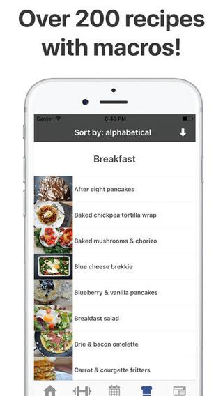 تطبيق Gymster لمتابعة حمية غذائية صحية للنشاط الرياضي