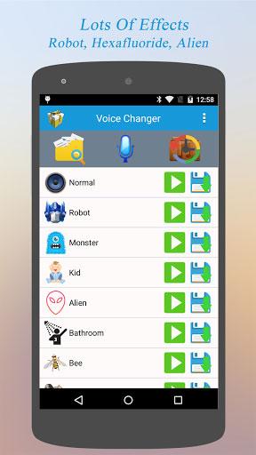 تطبيق Best Voice Changer لتغيير الأصوات للمتعة والتسلية