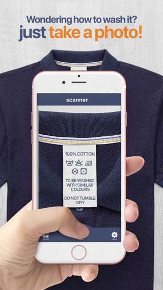 تطبيق Washtag دليل معرفة رموز غسل الملابس للحفاظ عليها