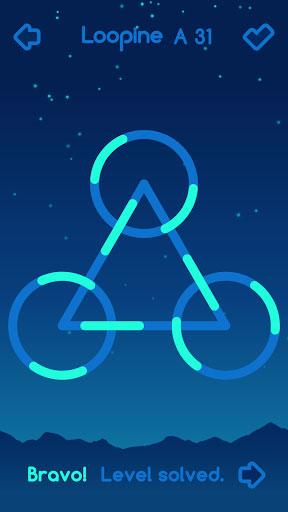 لعبة Loopine لخوض تحديات الألغاز الهندسية