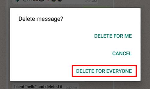 أندرويد : كيفية حذف رسالة واتس آب بعد إرسالها (2)