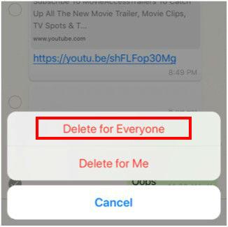 آيفون : كيفية حذف رسالة واتس آب بعد إرسالها (2)
