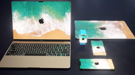 صورة تصميم تخيلي – شاهد كيف ستبدو أجهزة آبل بتصميم الأيفون X