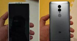 تسريب صورة Xiaomi Redmi Note 5 مع شاشة كاملة !