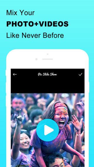 تطبيق Mix Music Photo Video لإنشاء مقاطع فيديو من صورك الخاصة