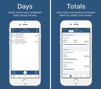 تطبيق Time Manager لتنظيم وقتك اليومي