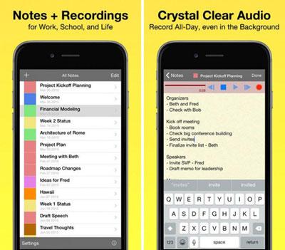 تطبيق Audio Notebook Pocket للملاحظات الصوتية