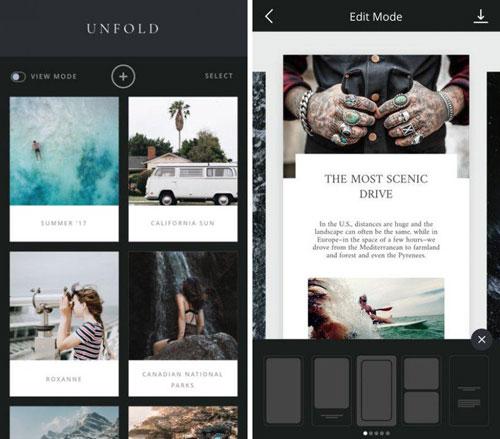 تطبيق Unfold: Stories لإنشاء ستوري مميزةتطبيق Unfold: Stories لإنشاء ستوري مميزة