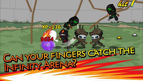 لعبة Ninjas Infinity حتى تعيش عالم النينجا