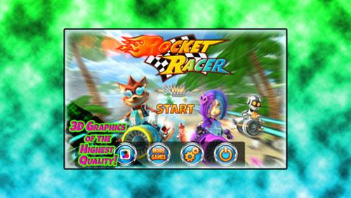 لعبة Rocket Racer R سباق مركبات متطورة