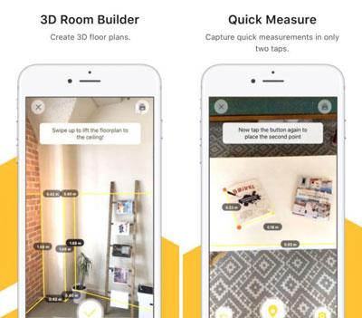تطبيق TapMeasure لتحويل الأيفون إلى أداة قياس