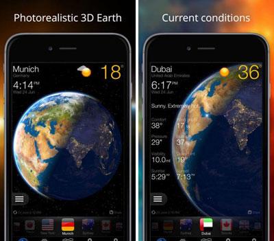 تطبيق Weather Now Widget لمعرفة حالة الطقس